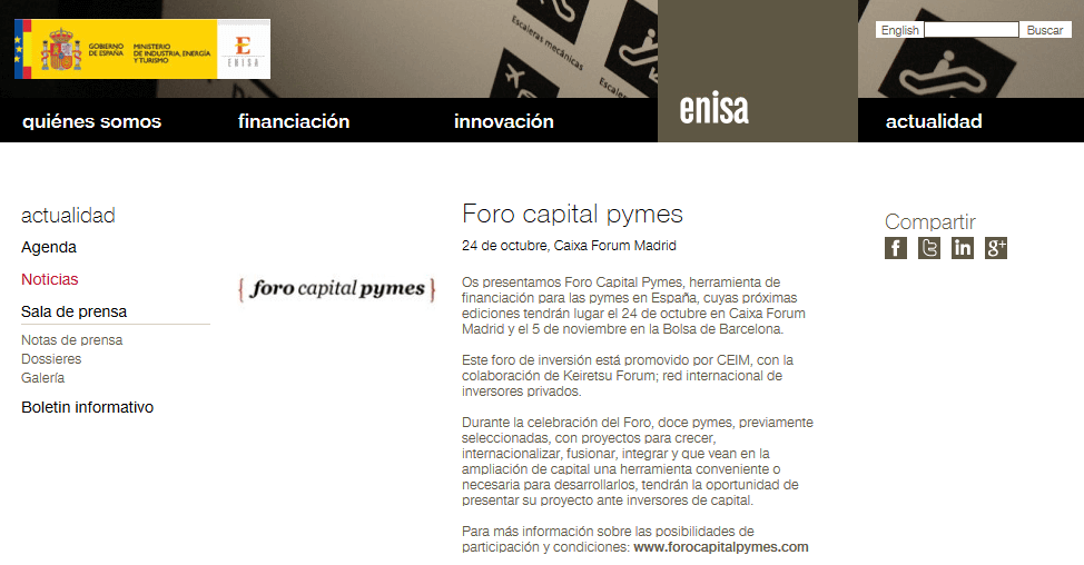 enisa_Foro capital pymes